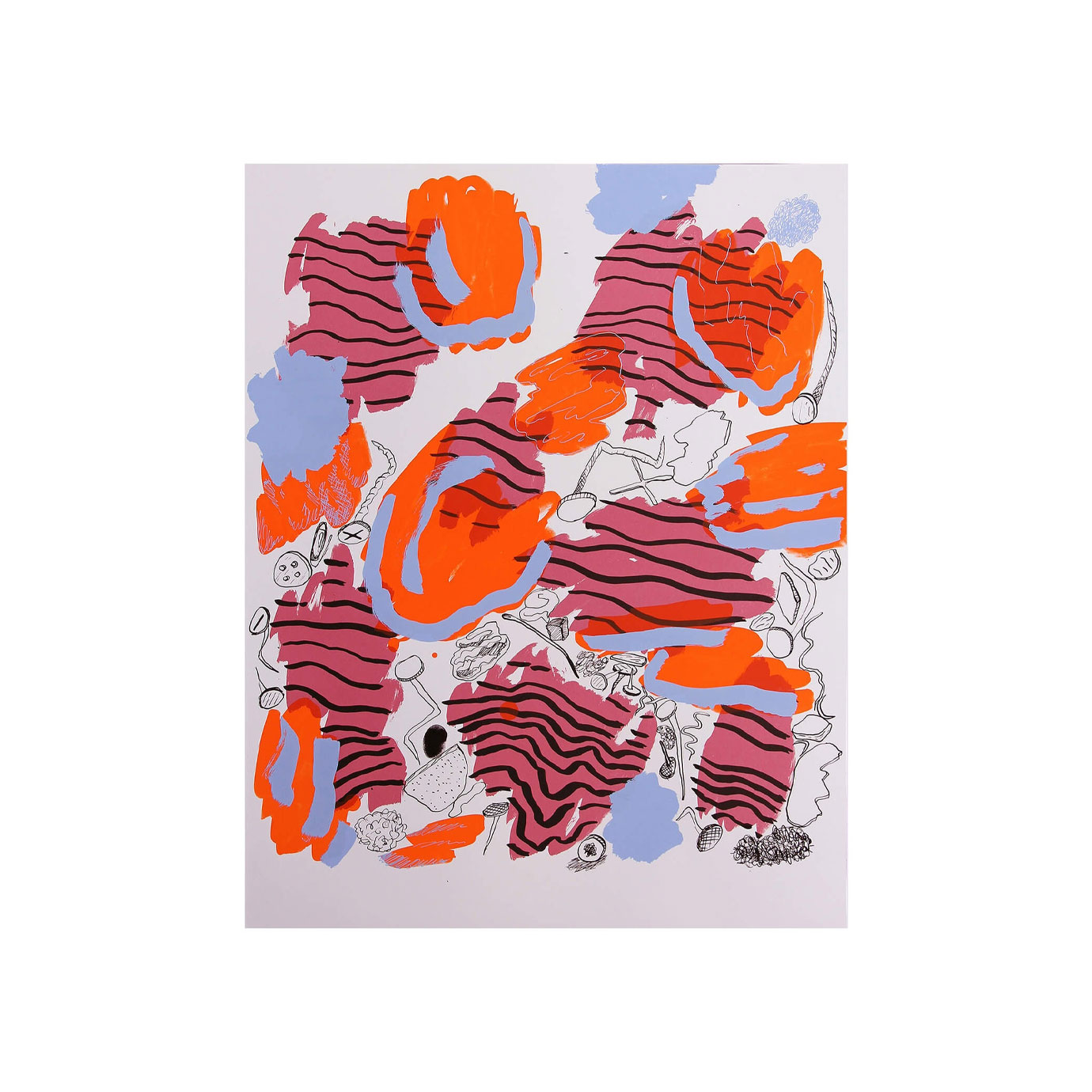 A multi-coloured abstract painting.