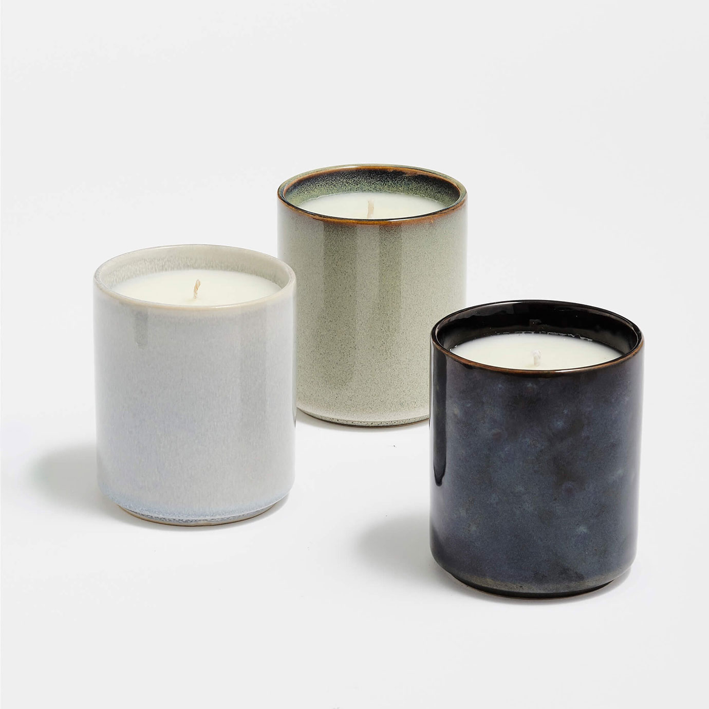 Three scented candles.