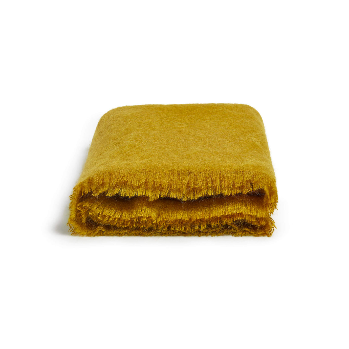 A mustard coloured blanket.