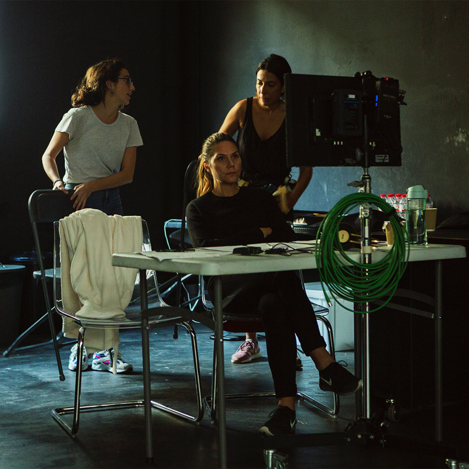 female director in studio