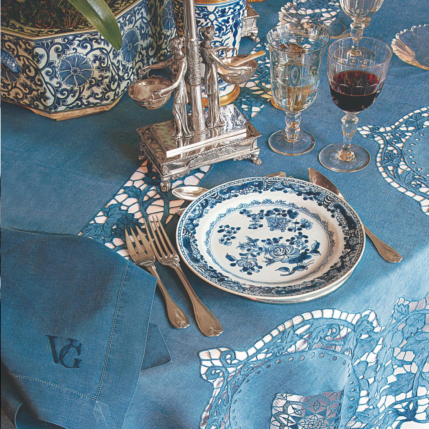 An ornate dinner setting.