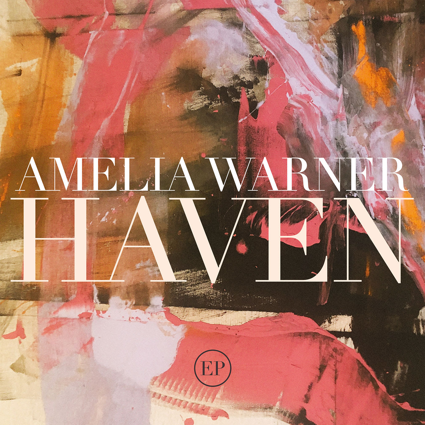 An album cover with an abstract painting on it and Amelia Warner Haven written on it.