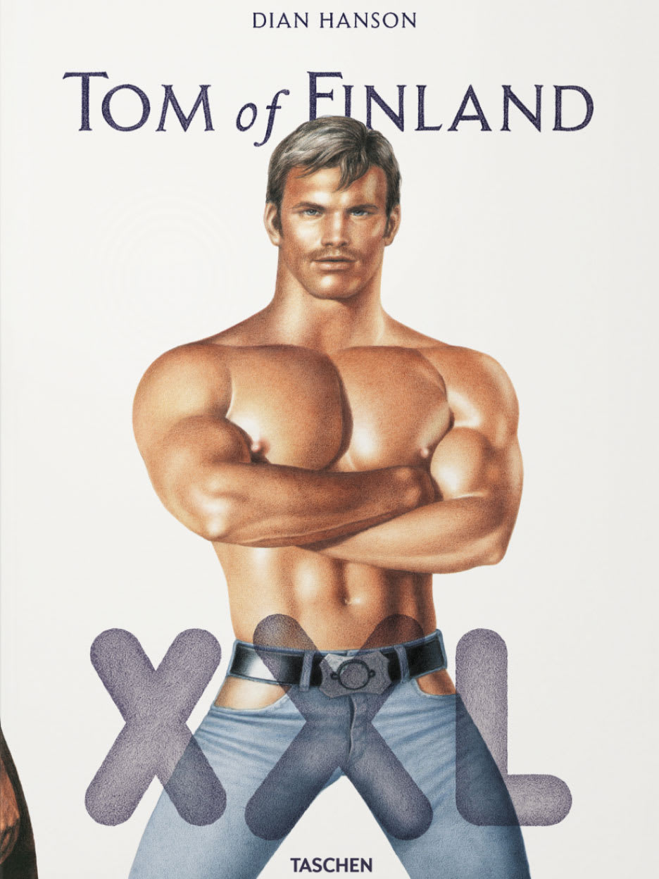 A book cover called Tom of Finland with an illustration of a half naked man on it.