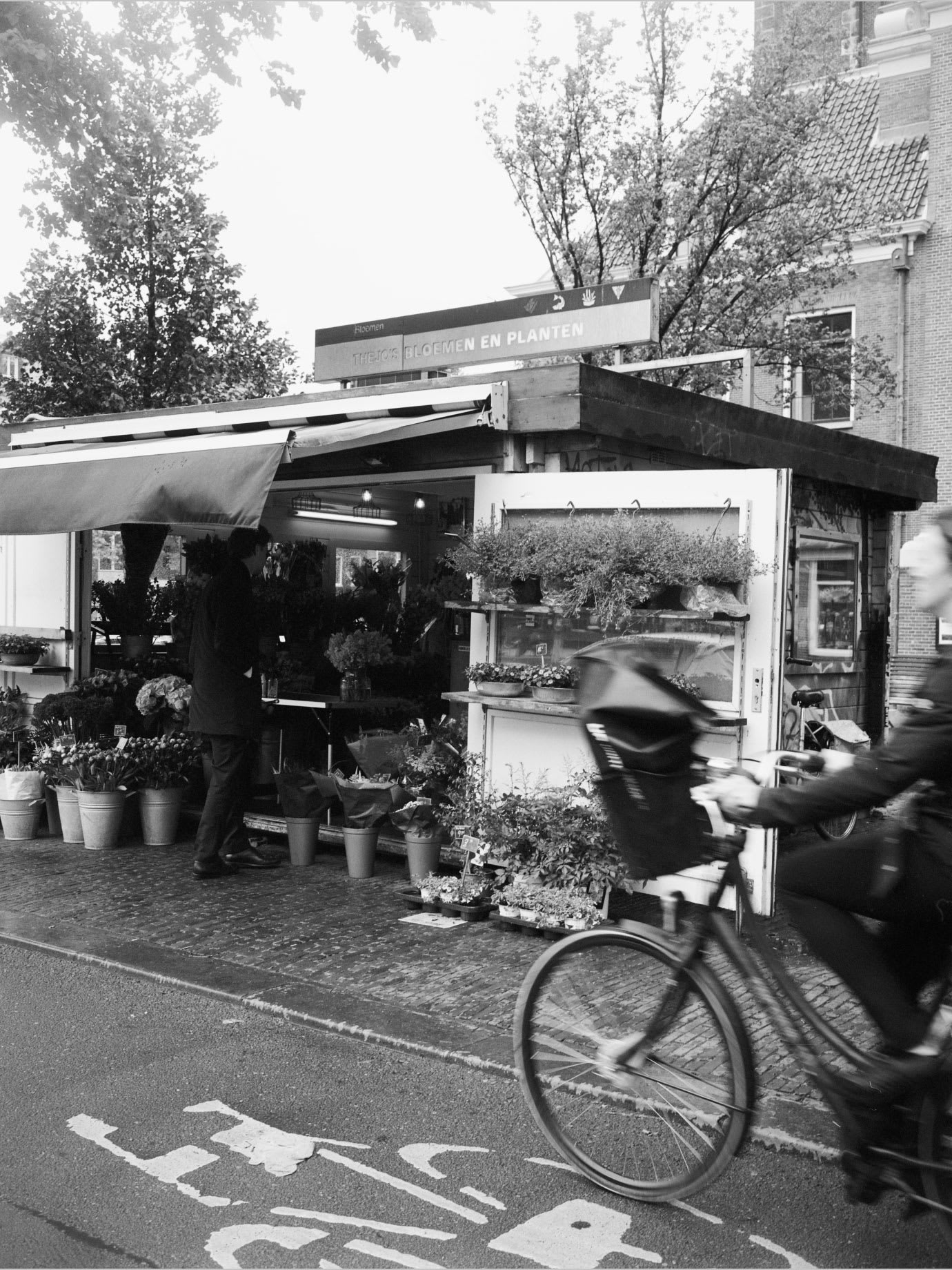 A flower stall.