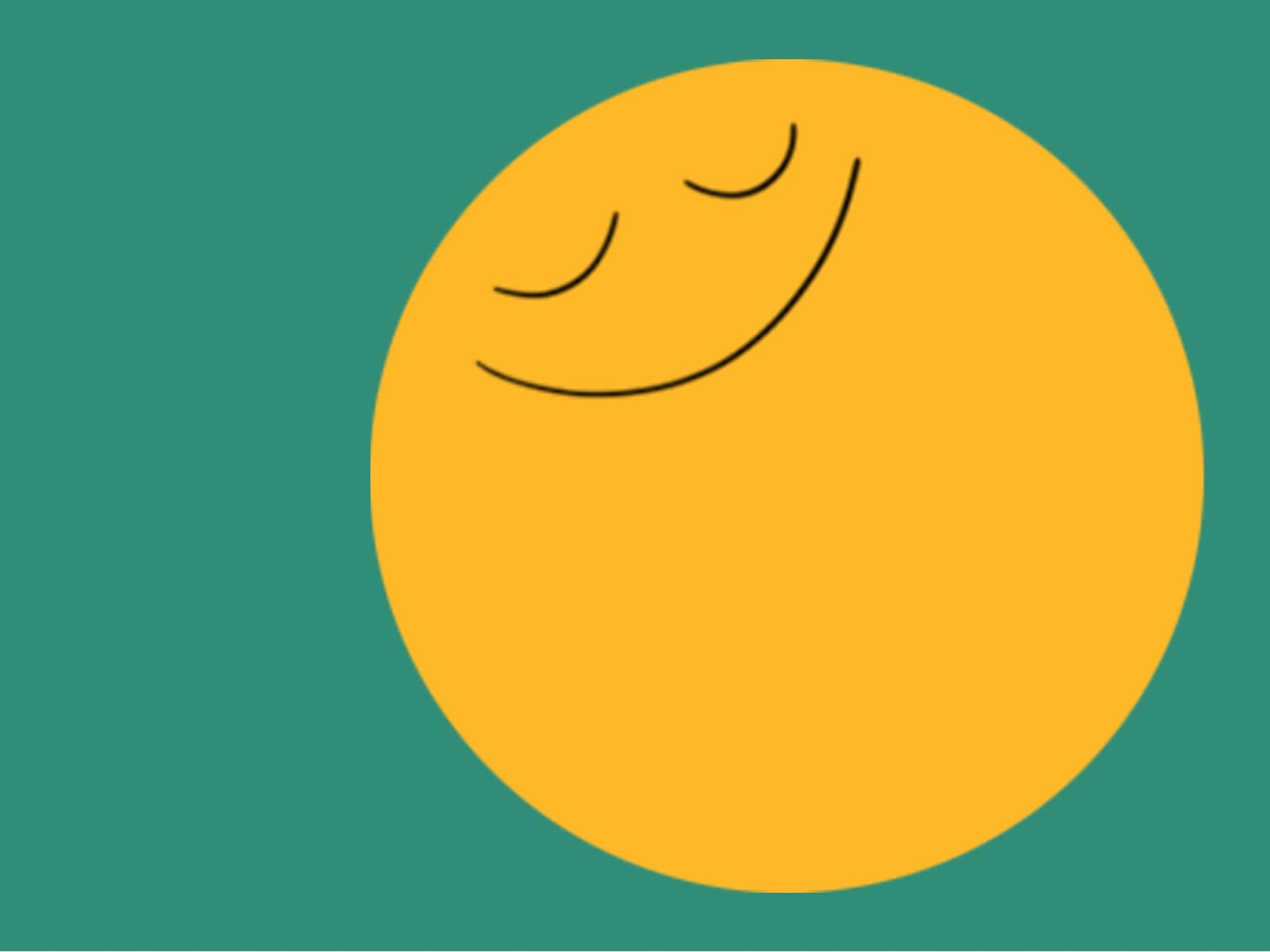 illustration of yellow dot with smiling face