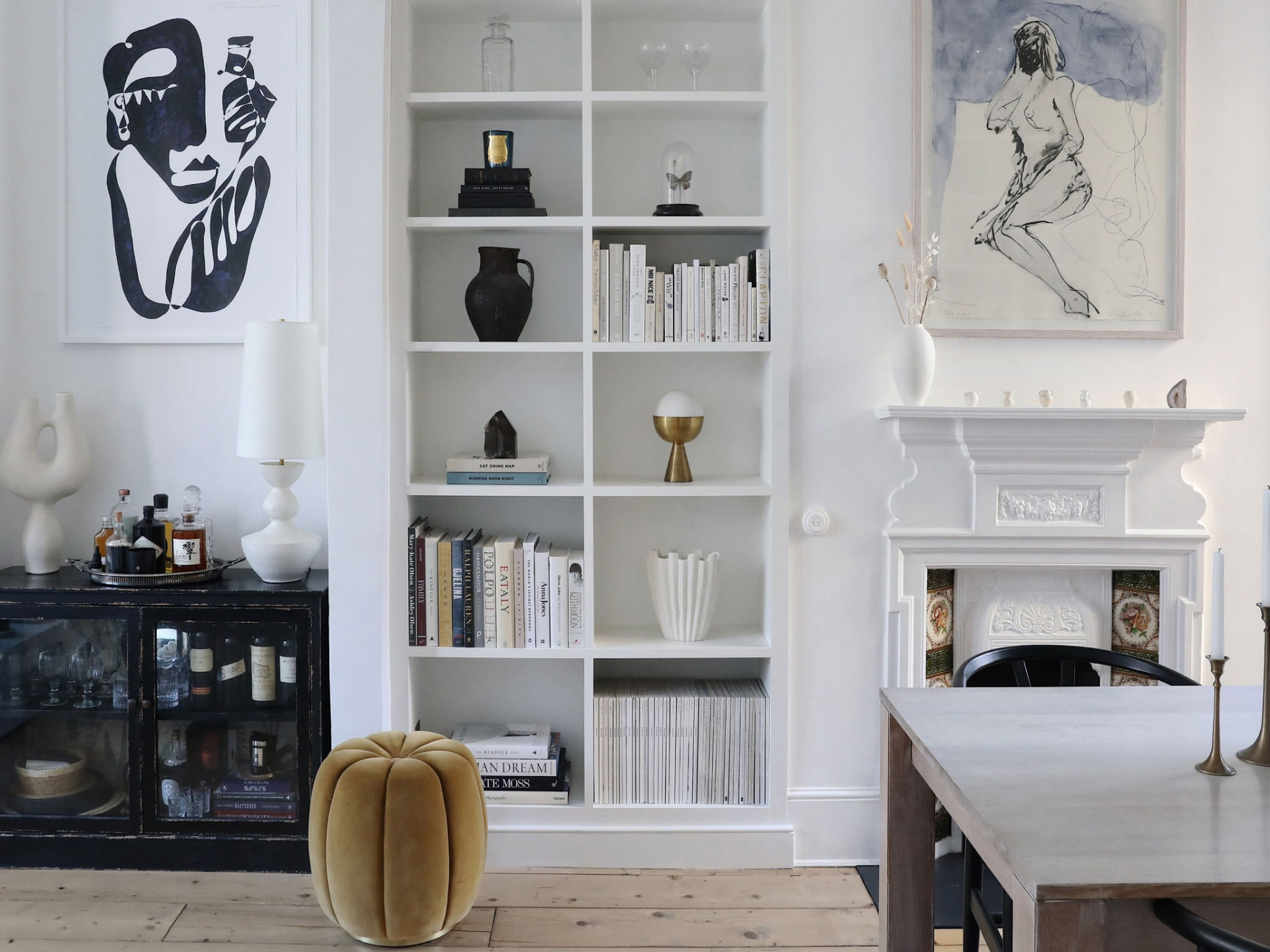 A lounge-like interior.