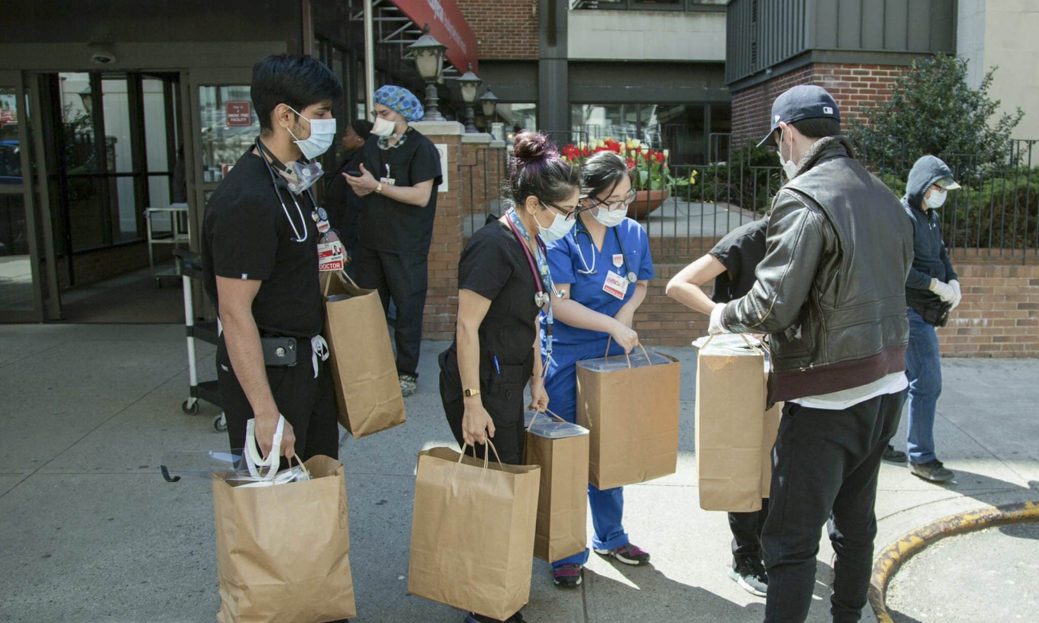 A community helping fight coronavirus.