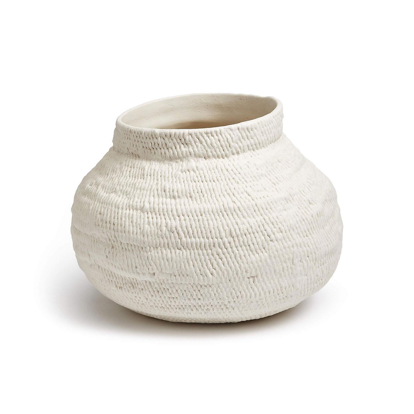 A white clay vase.