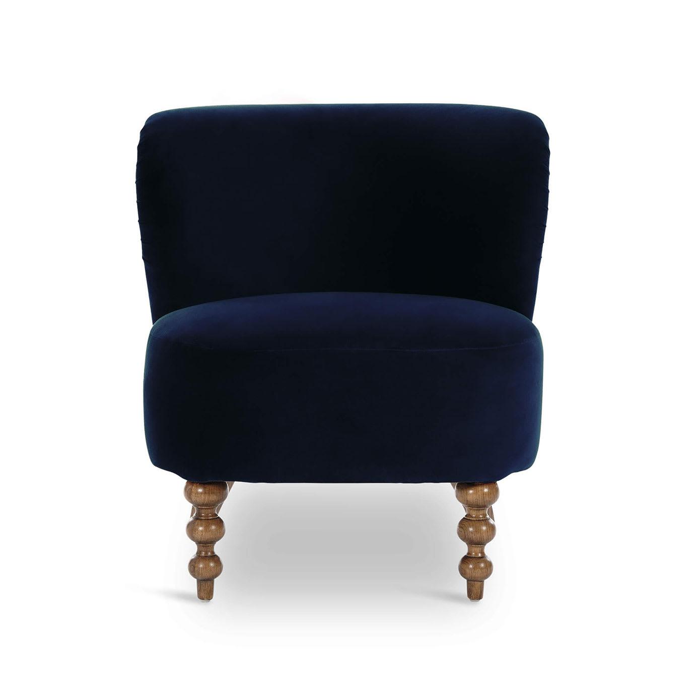 A blue chair.