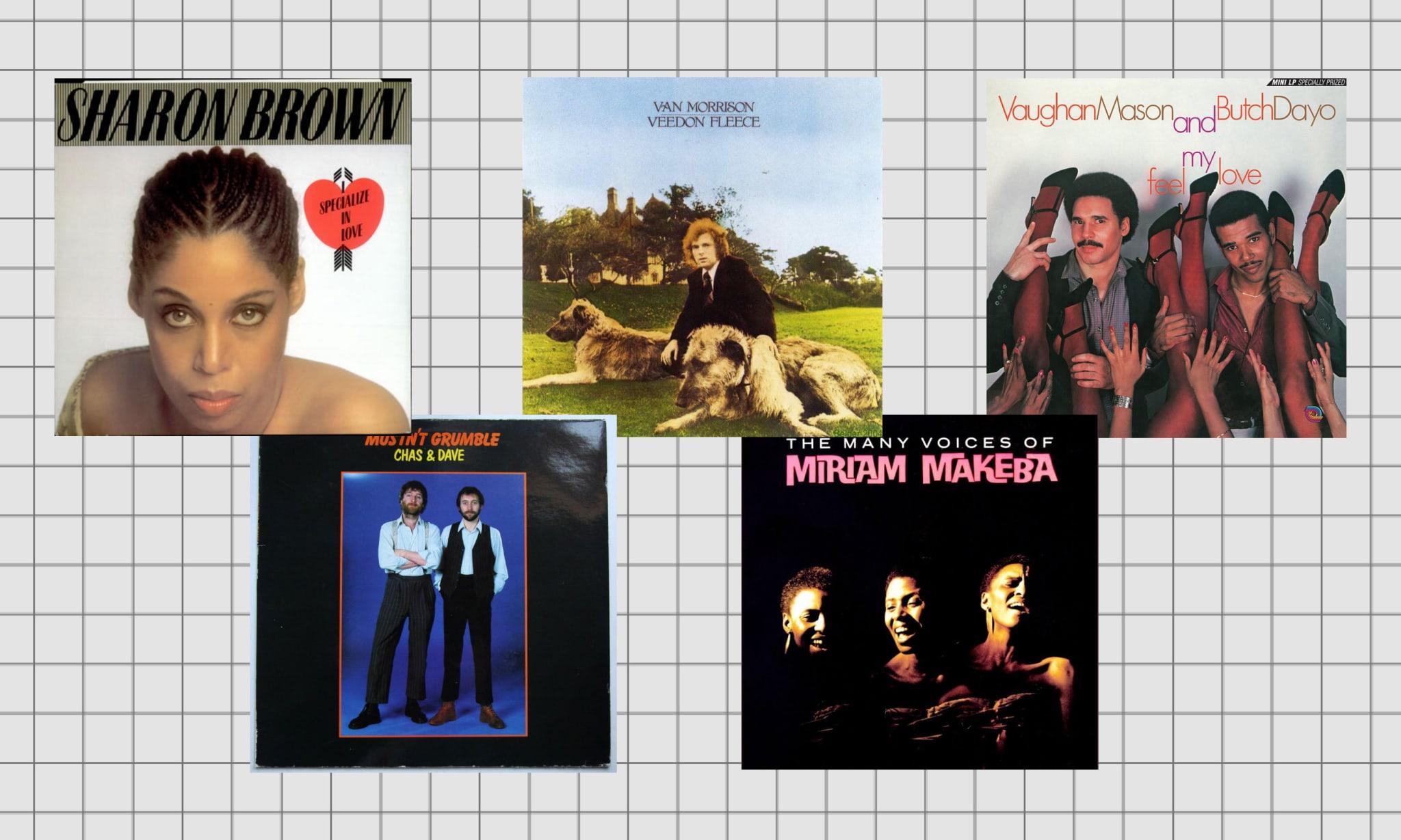 Five album covers.