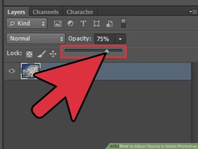 تغییر شفافیت عکس  و محو کردن عکس  در فوتوشاپ