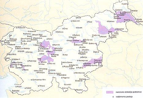 Območja s podtalnico v Sloveniji