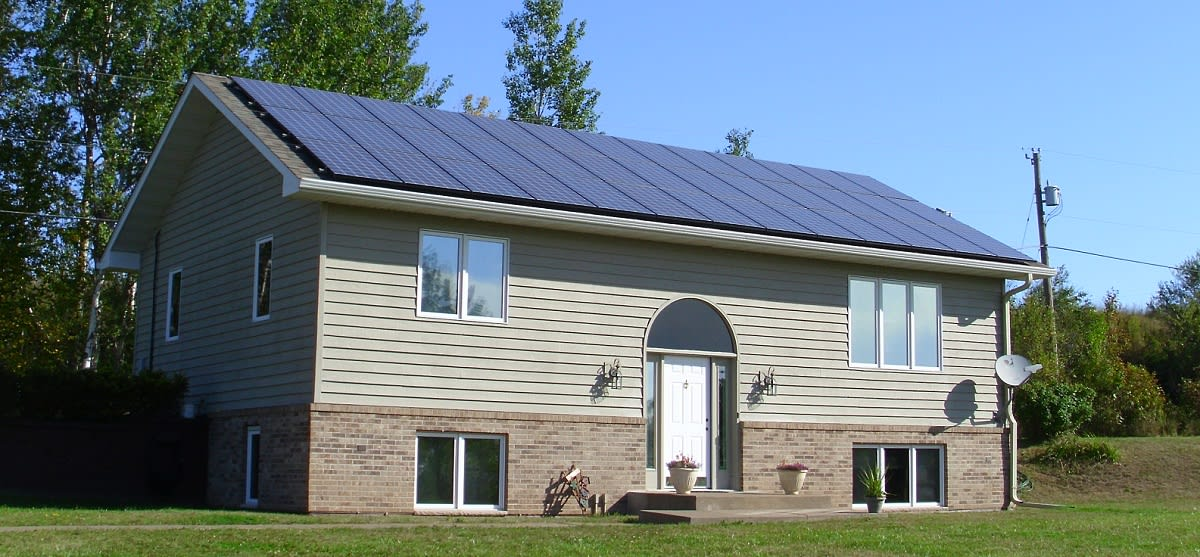 ENTIRE HOUSE ROOF IN SOLAR PANELS