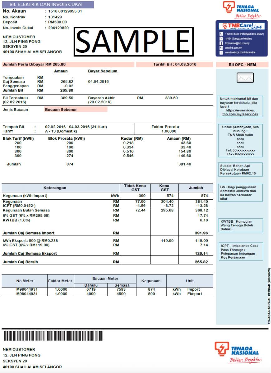 Understanding Your Net Energy Metering Bill