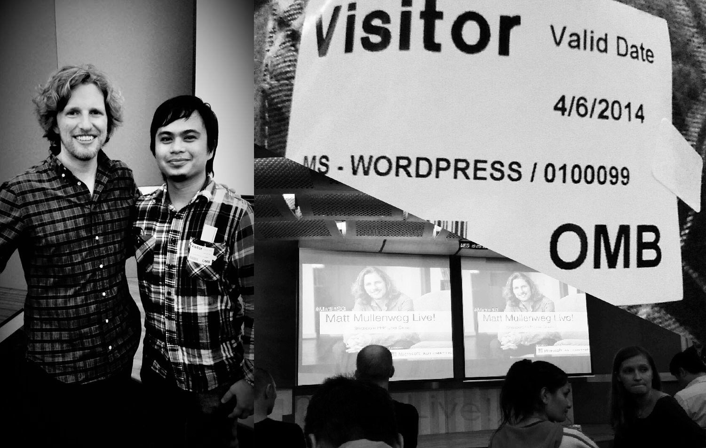 With Matt Mullenweg WordPress Live Singapore 2014
