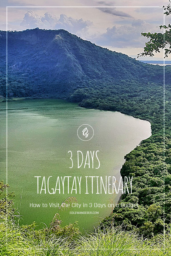 3 Days Tagaytay Itinerary Pinterest