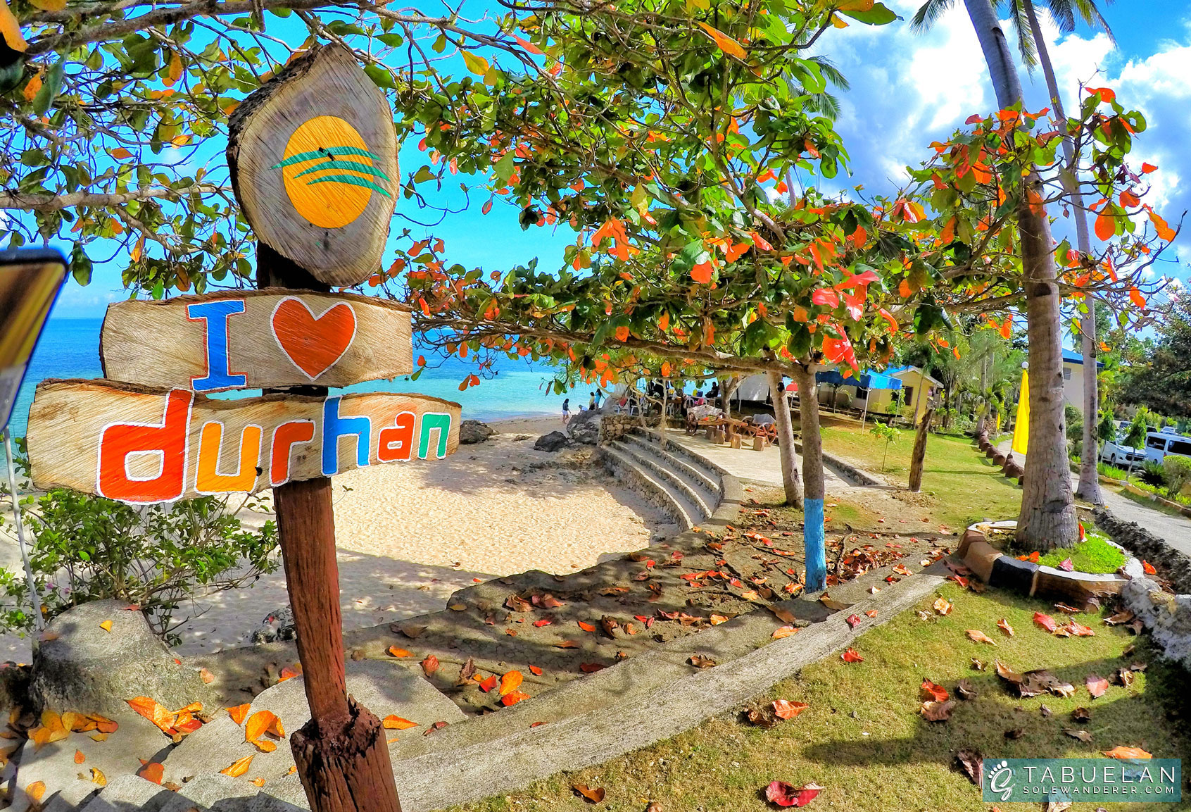 Durhan White Beach Resort Signage