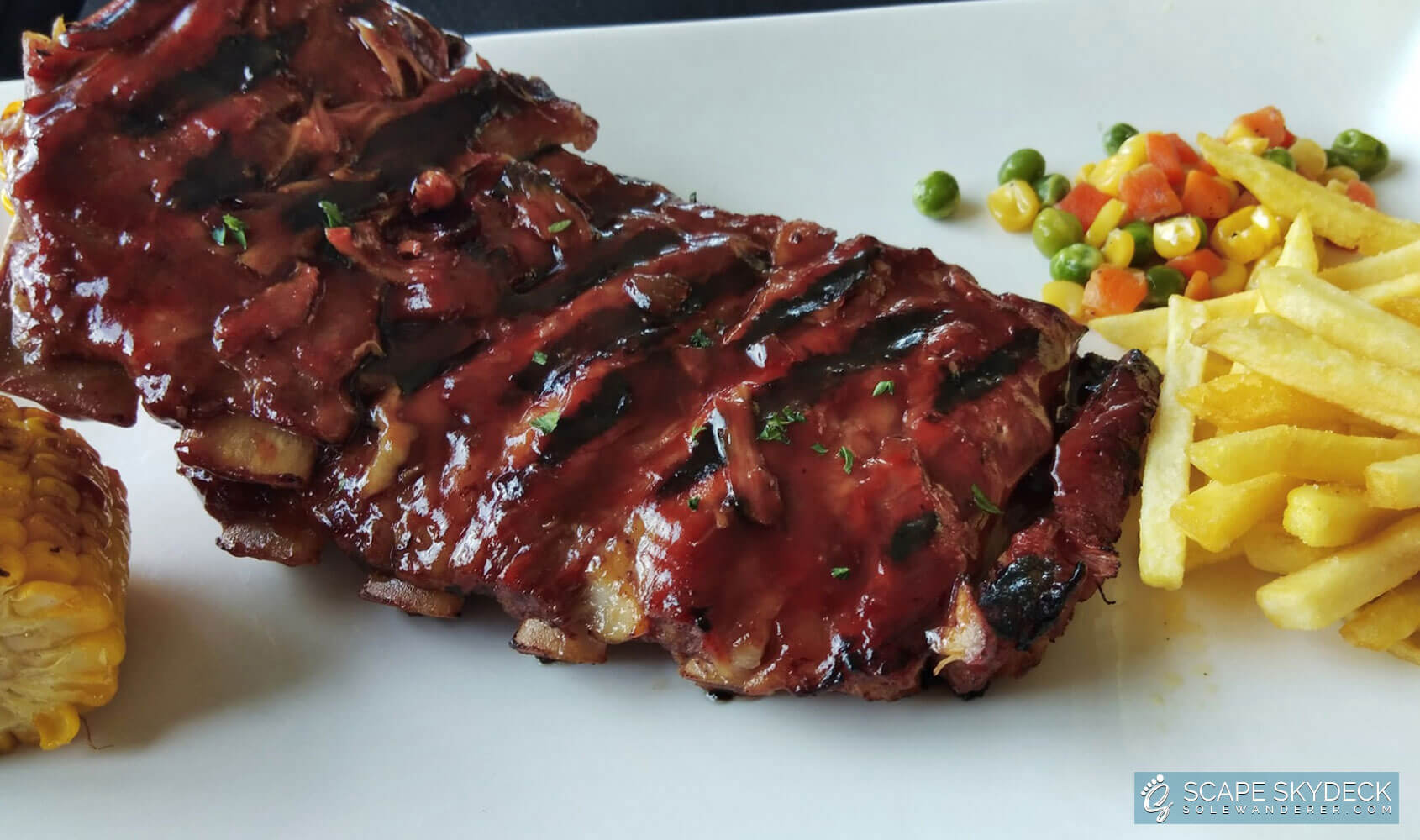 Scape Skydeck Smoked Baby Back Ribs