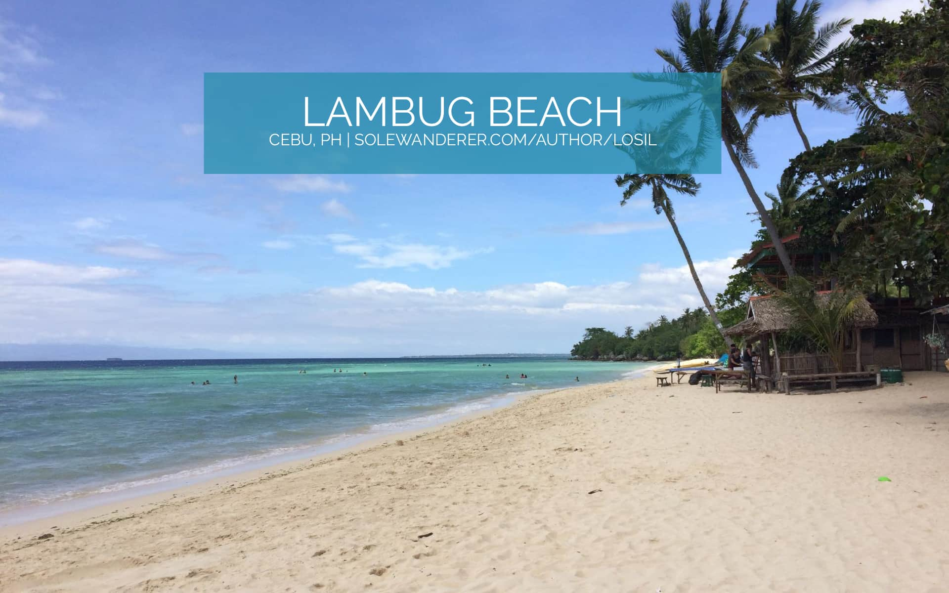 Long-Stretch Beach of Lambug Beach Cebu - The Sole Wanderer