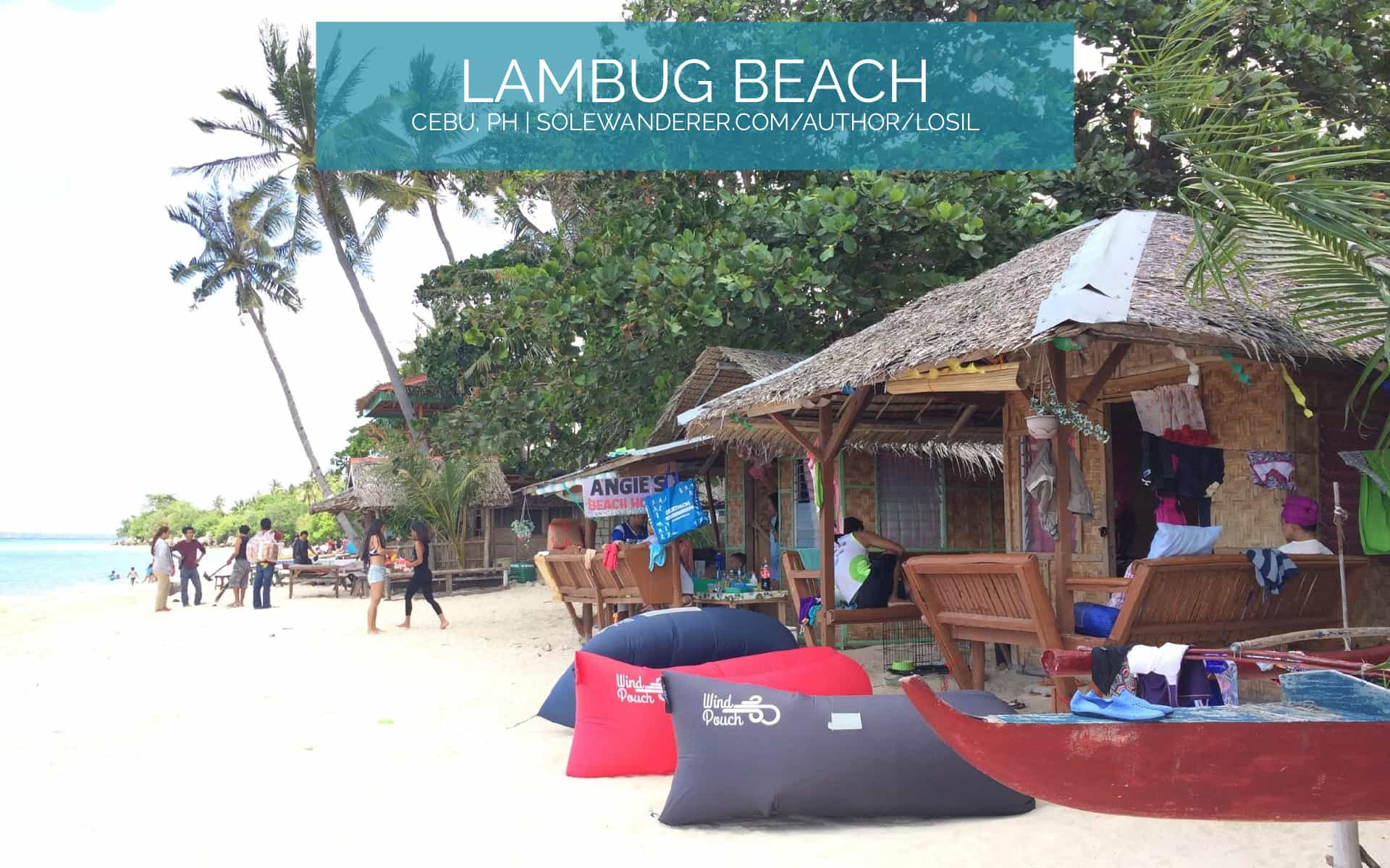 Privately-owned Cottages, Lambug Beach Cebu - Forest Walk Singapore - The Sole Wanderer