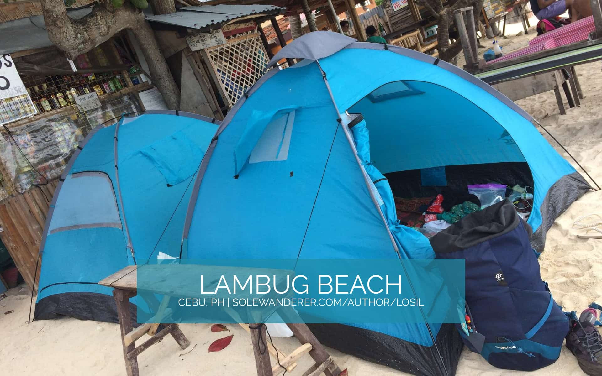 Available Tents for Rent, Lambug Beach Cebu - The Sole Wanderer