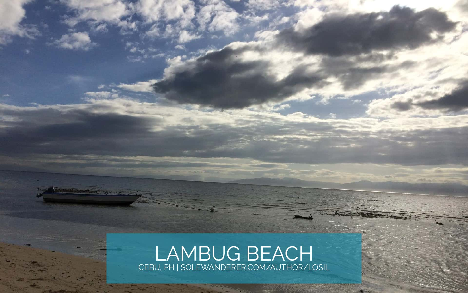 Beautiful Sunset, Lambug Beach Cebu - The Sole Wanderer