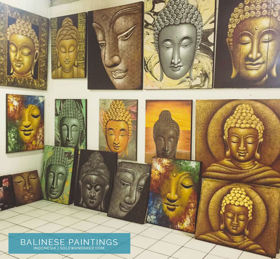 Balinese Canvas Paintings - Sole Wanderer
