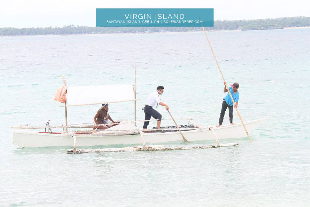 Motorized Boat to Virgin Island Bantayan - Sole Wanderer