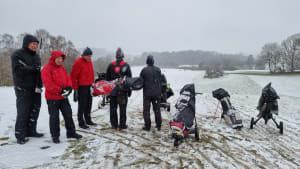 I Sne og slud slår golferen ud!