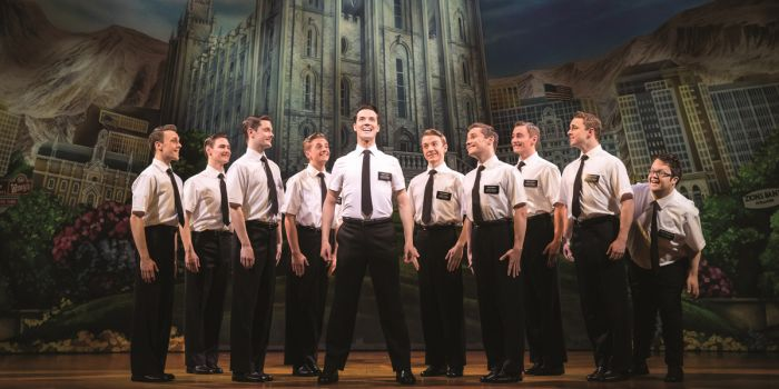The West End cast of The Book Of Mormon (Photo: Johan Persson)