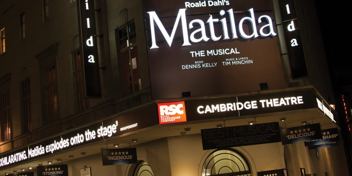 The Cambridge Theatre hosts Matilda The Musical