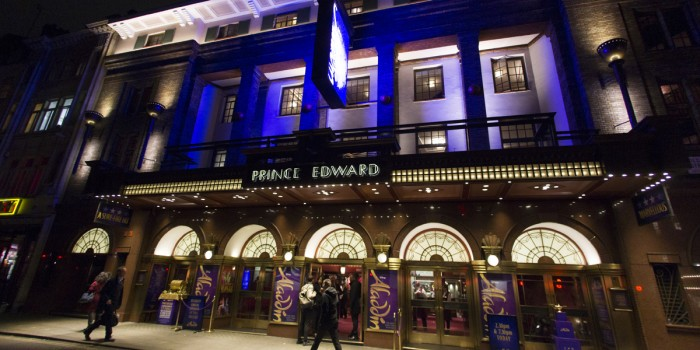 The Prince Edward Theatre hosts Disney's Aladdin