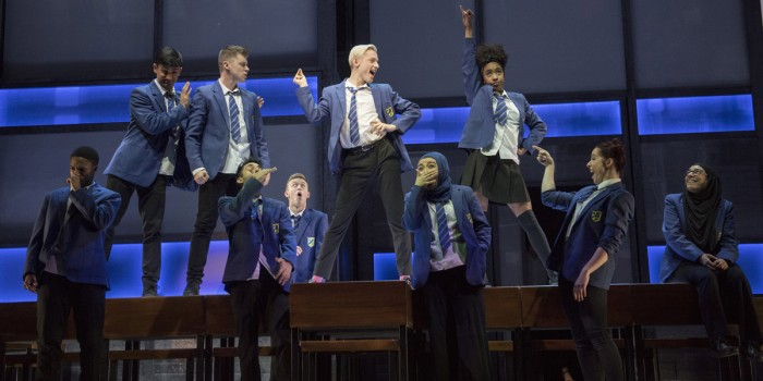 John McCrea and the company of Everybody's Talking About Jamie (Photo: Alastair Muir)