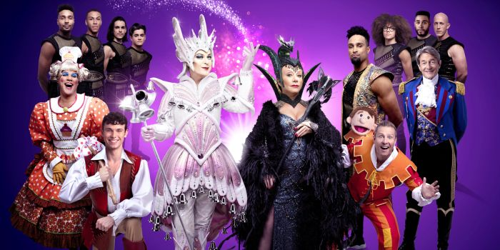 The cast of Dick Whittington at the London Palladium