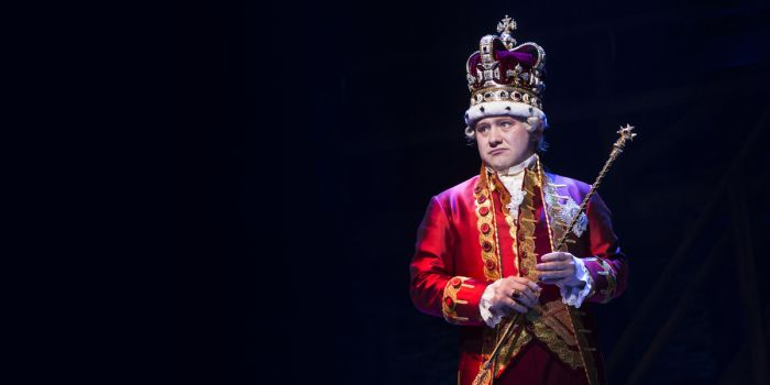 Michael Jibson (King George) in Hamilton (Photo: Matthew Murphy)
