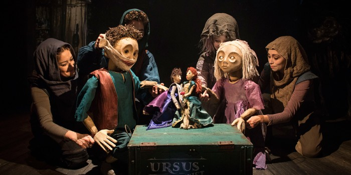Gyre & Gimble puppetry in The Grinning Man (Photo: Helen Maybanks)