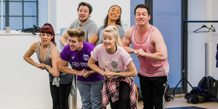 The company in Eugenius! rehearsals (Photo: Nick Dudley)