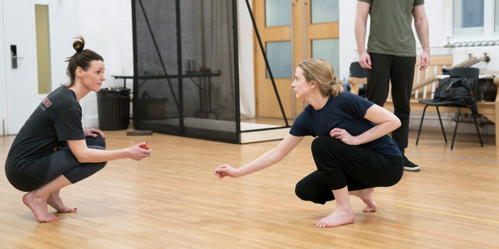 Suranne Jones and Nancy Roisin in rehearsal for Frozen at Theatre Royal Haymarket (Photo: Johan Persson)