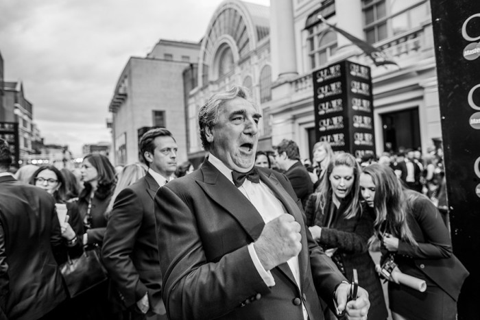 Jim Carter on the red carpet for the Olivier Awards 2016 with MasterCard (Photo: David Levene)