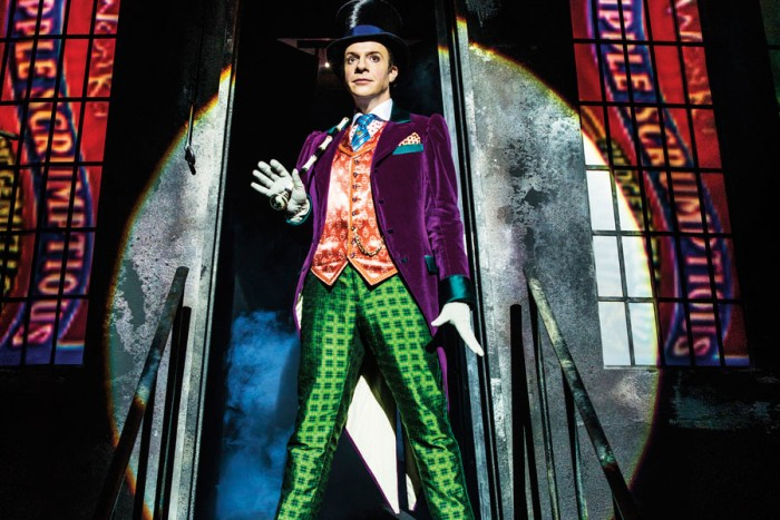 Jonathan Slinger as Willy Wonka in Charlie And The Chocolate Factory (Photo: Matt Crockett)