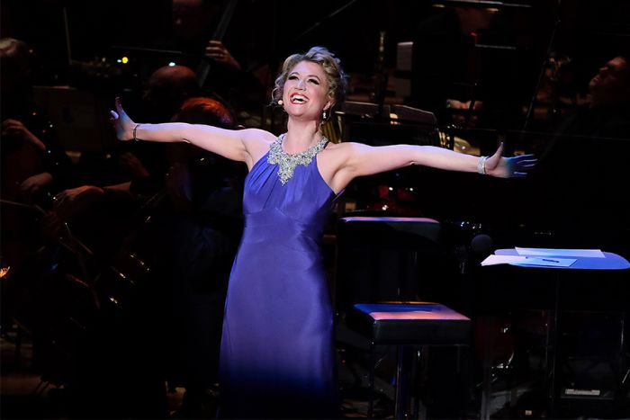 Scarlett Strallen performs at The Oliviers In Concert (Photo: BBC/Mark Allan)