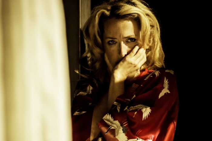 Gillian Anderson as Blanche DuBois in A Streetcar Named Desire at the Young Vic (Photo: Johan Persson)