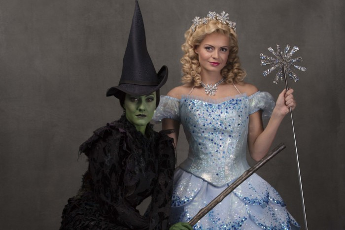 Alice Fearn (Elphaba) and Sophie Evans (Glinda) in Wicked (Photo: Darren Bell)