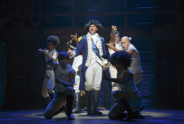 Christopher Jackson as George Washington in Hamilton on Broadway