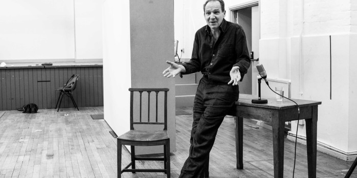 Ralph Fiennes in rehearsals for Four Quarters
