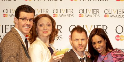 Gavin Lee, Kristen Beth Williams, Mark Letheren and Debbie Kurup at the Nominations Announcement for the Olivier Awards 2013 with MasterCard