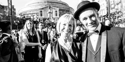 Claire van Kampen and Mark Rylance on the Olivier Awards 2017 with Mastercard red carpet (Photo: Matt Humphrey)