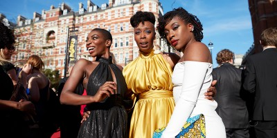Michaela Coel and Noma Dumezweni on the Olivier Awards 2017 with Mastercard red carpet (Photo: David Levene)