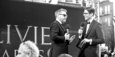 Kenneth Branagh and Frank Dilella on the Olivier Awards 2017 with Mastercard red carpet (Photo: Matt Humphrey)