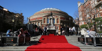 The red carpet at the Olivier Awards 2017 with Mastercard (Photo: Darren Bell)